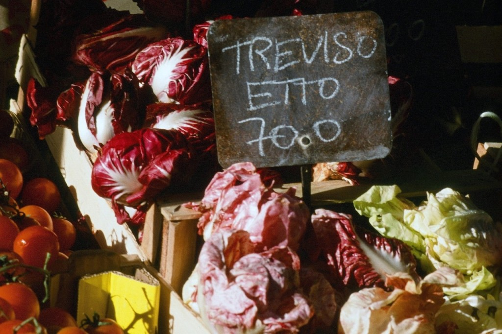 Radicchios for sale in Verona. Credit: Copyright 2016 Paolo Destefanis for Veneto: Authentic Recipes From Venice and The Italian Northeast, by Julia della Croce (Chronicle Books)