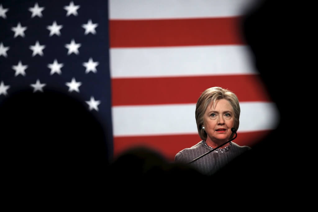 U.S. Democratic presidential candidate Hillary Clinton speaks at the Michigan Democratic Party meeting in Detroit, Michigan March 5, 2016. REUTERS/Carlos Barria