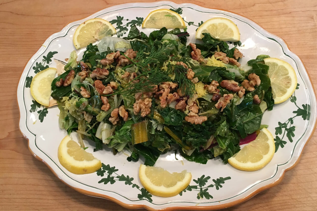 Cuisines from around the world can influence our vegetarian choices, such as in this Armenian-style salad. Credit: Copyright 2016 Marie Simmons